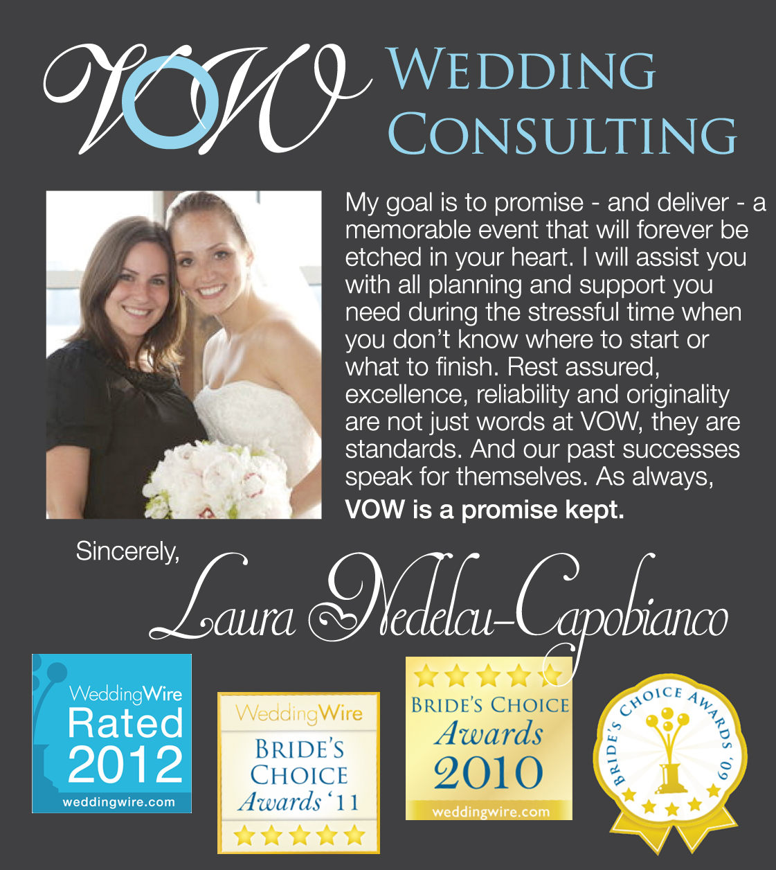 Owner Of VOW Wedding Consulting Creator We To Inspire A Blog Ive Worked On Weddings Since 2004 And All I Can Say Is Its